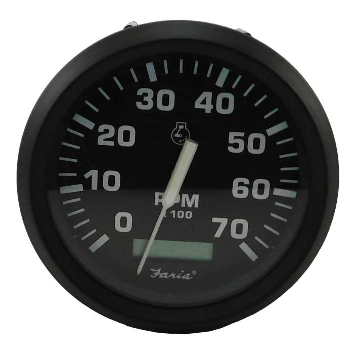 EURO 7,000 RPM TACHOMETER HOUR METER